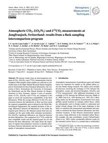 Atmospheric Co2, Δ(O2/N2) and Δ13Co2 Mea... by Van Der Laan-luijkx, I. T.