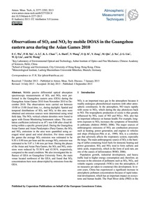 Observations of So2</Sub and No2 by Mobi... by Wu, F. C.