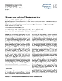 High-precision Analysis of Sf6 at Ambien... by Lim, J. S.