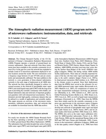 The Atmospheric Radiation Measurement (A... by Cadeddu, M. P.