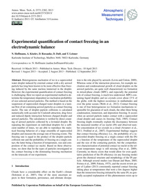 Experimental Quantification of Contact F... by Hoffmann, N.