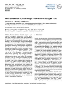 Inter-calibration of Polar Imager Solar ... by Meirink, J. F.
