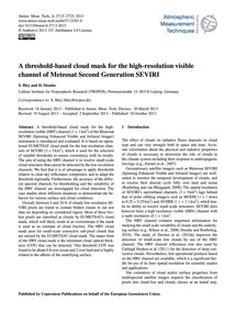 A Threshold-based Cloud Mask for the Hig... by Bley, S.