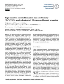 High-resolution Chemical Ionization Mass... by Aljawhary, D.