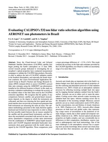 Evaluating Calipso's 532 Nm Lidar Ratio ... by Lopes, F. J. S.