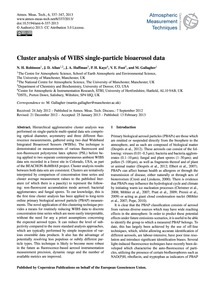 Cluster Analysis of Wibs Single-particle... by Robinson, N. H.