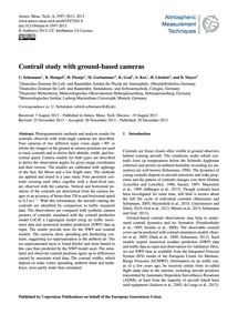 Contrail Study with Ground-based Cameras... by Schumann, U.