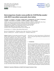 Intercomparison of Polar Ozone Profiles ... by Gazeaux, J.