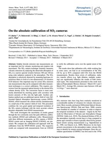 On the Absolute Calibration of So2 Camer... by Lübcke, P.
