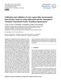 Calibration and Validation of Water Vapo... by Moss, A.