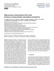 High Accuracy Measurements of Dry Mole F... by Rella, C. W.
