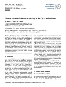 Note on Rotational-raman Scattering in t... by Vasilkov, A.