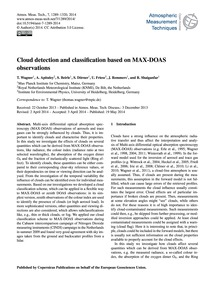 Cloud Detection and Classification Based... by Wagner, T.