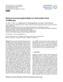 Retrieval of Aerosol Optical Depth Over ... by Mei, L. L.