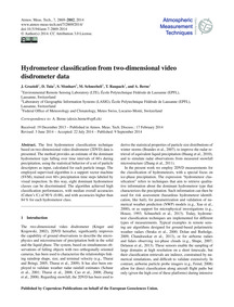 Hydrometeor Classification from Two-dime... by Grazioli, J.