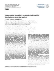 Measuring the Atmospheric Organic Aeroso... by Karnezi, E.