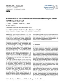 A Comparison of Ice Water Content Measur... by Abel, S. J.