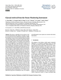 Glyoxal Retrieval from the Ozone Monitor... by Chan Miller, C.