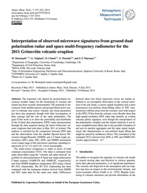 Interpretation of Observed Microwave Sig... by Montopoli, M.