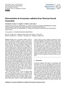 Determination of Circumsolar Radiation f... by Reinhardt, B.