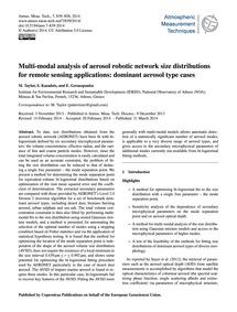 Multi-modal Analysis of Aerosol Robotic ... by Taylor, M.