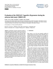 Evaluation of the Mozaic Capacitive Hygr... by Neis, P.