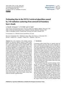 Estimating Bias in the Oco-2 Retrieval A... by Merrelli, A.