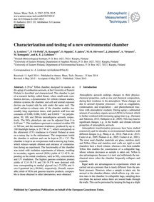 Characterization and Testing of a New En... by Leskinen, A.