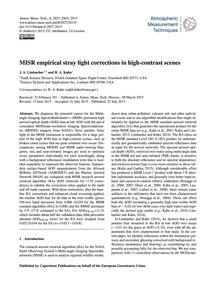 Misr Empirical Stray Light Corrections i... by Limbacher, J. A.