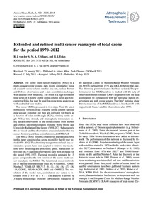 Extended and Refined Multi Sensor Reanal... by Van Der A, R. J.