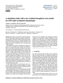 A Simulation Study with a New Residual I... by Danzer, J.