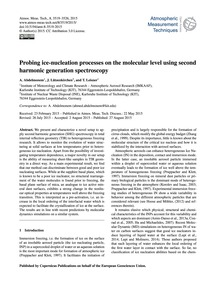 Probing Ice-nucleation Processes on the ... by Abdelmonem, A.