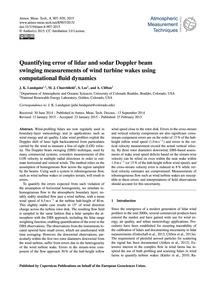 Quantifying Error of Lidar and Sodar Dop... by Lundquist, J. K.
