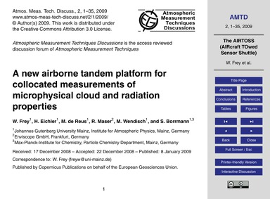 A New Airborne Tandem Platform for Collo... by Frey, W.