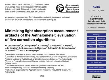 Minimizing Light Absorption Measurement ... by Collaud Coen, M.