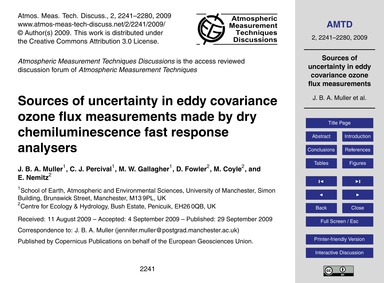 Sources of Uncertainty in Eddy Covarianc... by Muller, J. B. A.