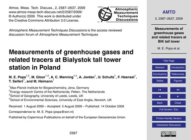 Measurements of Greenhouse Gases and Rel... by Popa, M. E.