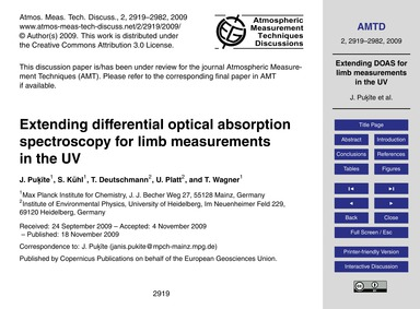 Extending Differential Optical Absorptio... by Puķīte, J.