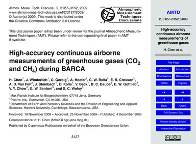 High-accuracy Continuous Airborne Measur... by Chen, H.