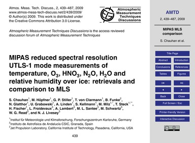 Mipas Reduced Spectral Resolution Utls-1... by Chauhan, S.