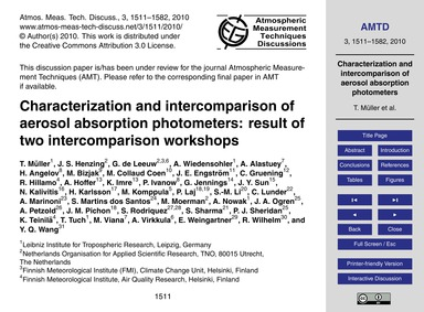 Characterization and Intercomparison of ... by Müller, T.