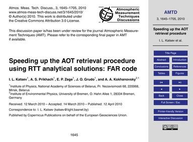 Speeding up the Aot Retrieval Procedure ... by Katsev, I. L.