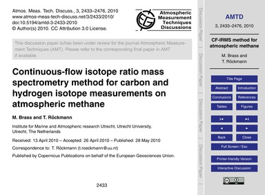 Continuous-flow Isotope Ratio Mass Spect... by Brass, M.