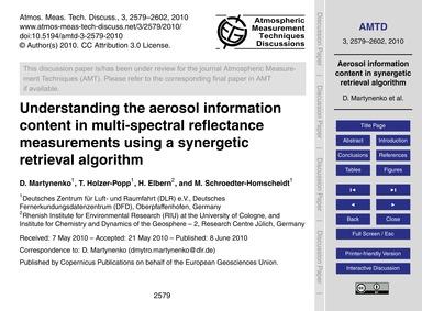 Understanding the Aerosol Information Co... by Martynenko, D.