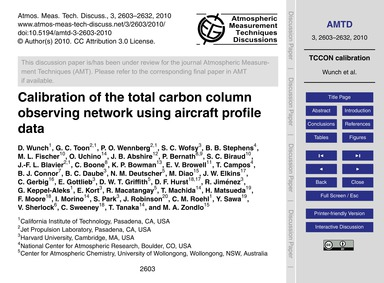 Calibration of the Total Carbon Column O... by Wunch, D.