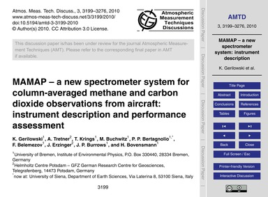 Mamap – a New Spectrometer System for Co... by Gerilowski, K.