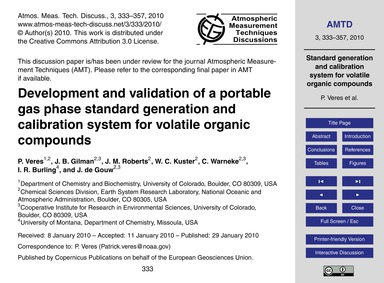 Development and Validation of a Portable... by Veres, P.