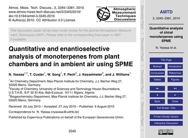 Quantitative and Enantioselective Analys... by Yassaa, N.