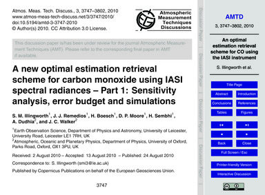 A New Optimal Estimation Retrieval Schem... by Illingworth, S. M.