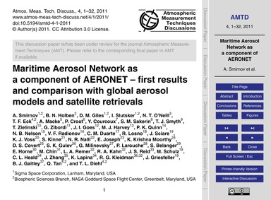 Maritime Aerosol Network as a Component ... by Smirnov, A.